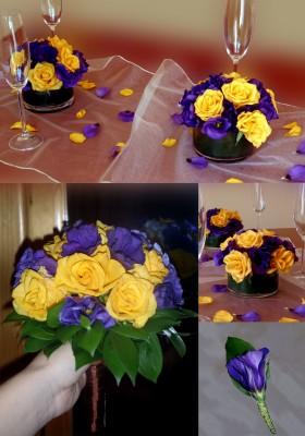 Лилаво и жълто
